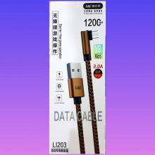 کابل تبدیل USBبه MICRO USB مدل LI203به طول 1/2متر