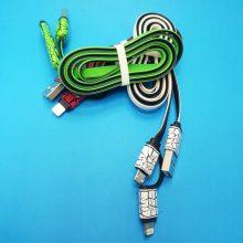 کابل شارژ دوکاره microusb -لایتینگ به طول 1 متر
