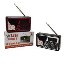 اسپیکر و رادیو WIJH مدل ۲۰۸BT با باطری قابل تعویض